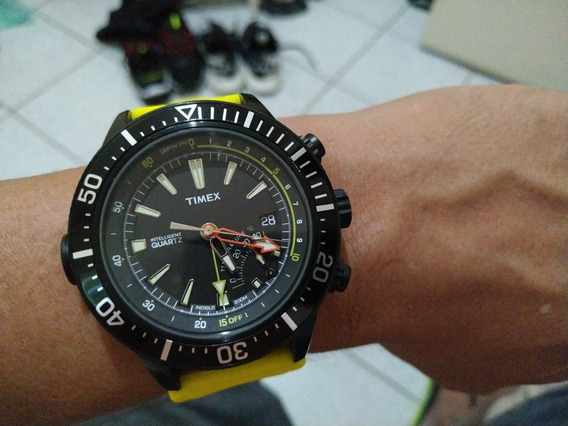 Relógio Timex Dep T2n 958 Sensor Temperatura E Profundimetro