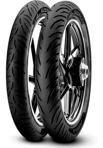 Cubiertas 80 100 18 + 90 90 18 Pirelli Super City Sin Camara