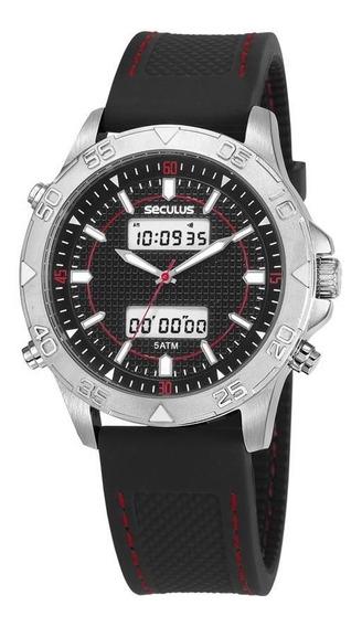 Relógio Seculus Masculino Ref: 20618g0svni1 Anadigi Black
