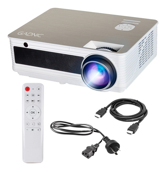 Proyector 5000 Lumenes 1080p Hdmi Usb Notebook Led Gadnic