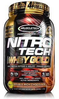 Nitro Tech Whey Gold 2.5lbs 1130g 34 Servings 7 Free