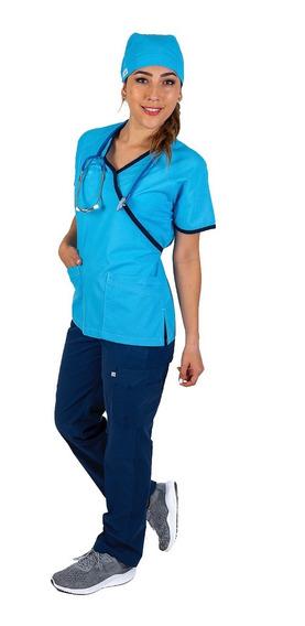 Uniforme Medico Quirúrgico, Conjunto, Con Gorro Dama