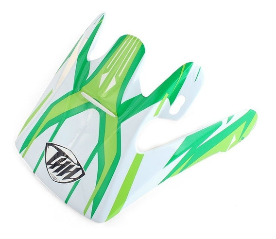 Pala Para Capacete Thh Tx-10 #3 - Branco E Verde