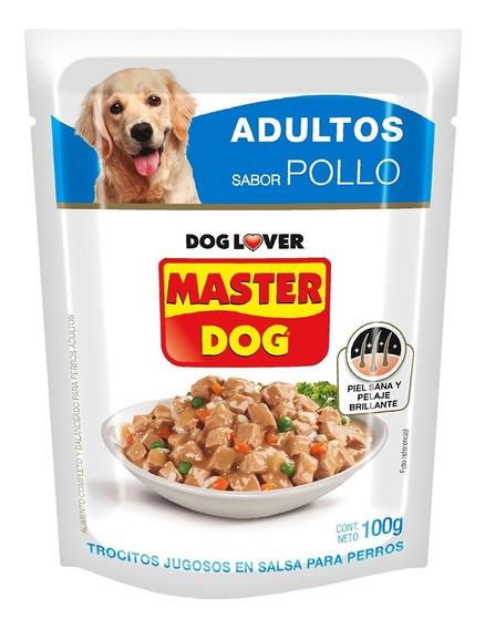 Perro Trocitos Jugosos Pollo 100g - Pack 20 Unidades
