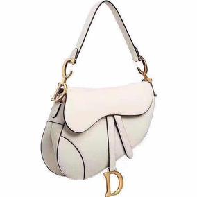 Bolsa Dior Saddle Van Kafsleer Offwhite - Pronta Entrega