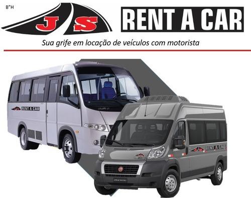 Aluguel Locação Fretamento De Van E Microônibus C/ Motorista