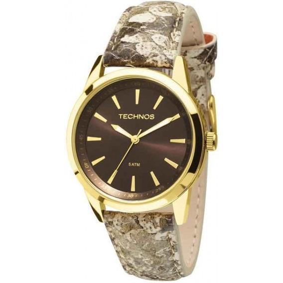 Relógio Technos Feminino Couro Phyton 2035mcs/2m