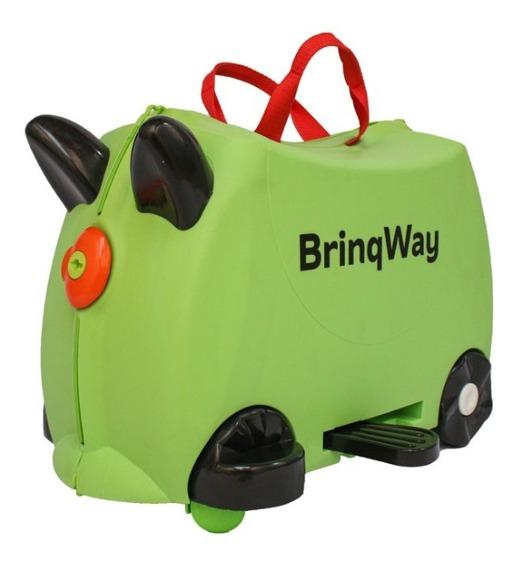 Mala Viagem Infantil Formato Carrinho Assento Com Empurrador