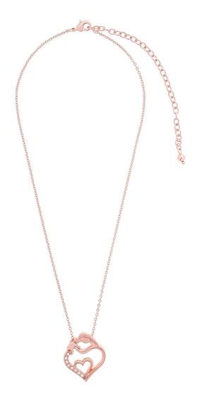 Nice® Collar Agapi Baño De Oro Rosa
