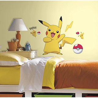 Roommates Rmk2536gm Pokemon Pikachu Peel And Stick Vinilos D