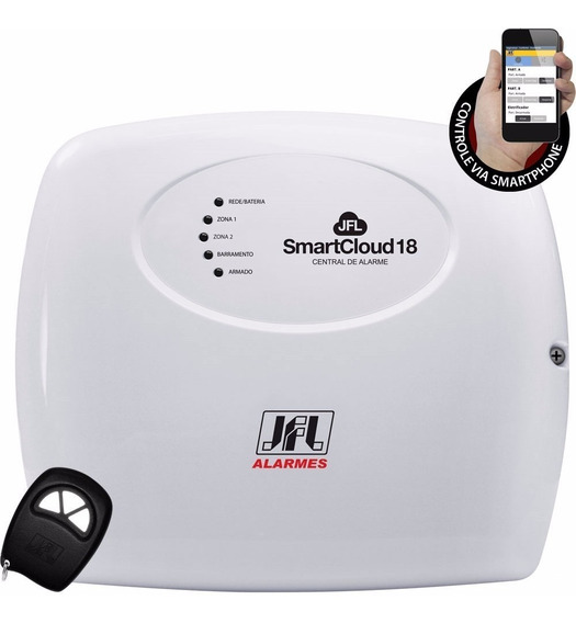 Central De Alarme Monitorado Smart Cloud 18 - Jfl