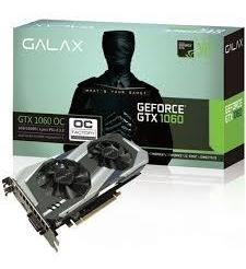 Placa De Vídeo Vga Galax Nvidia Geforc Gtx 1060 Oc6gb Gddr5x