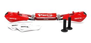 Pack Manubrio Wirtz® Enduro X6 Ø22mm Tornado Xtz Shock Metal