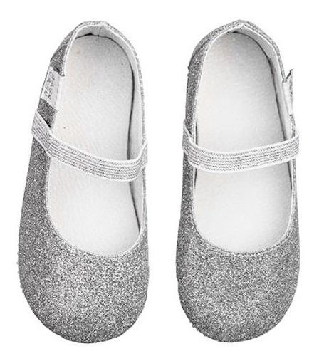 Sapatilha Prata Infantil Bailarina Glitter - Babo Uabu