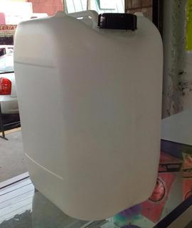 Porrones De Plástico De 20 Lts Seminuevos Con Tapa Y Empaque
