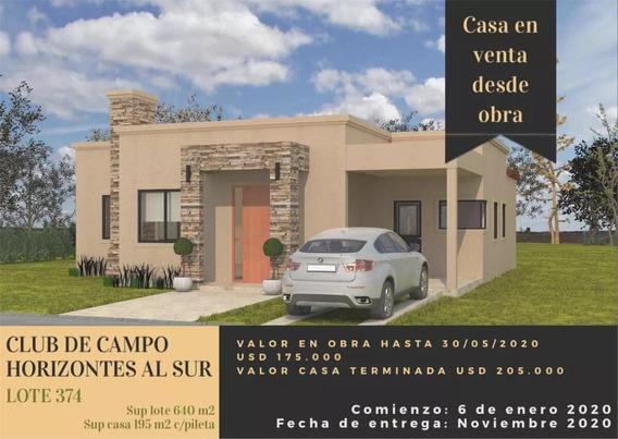 Casa En Venta Canning 4 Amb. En Barrio Horizontes Al Sur