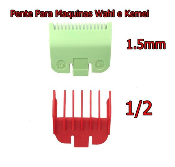 Pente Disfarce Maquinas Wahl/kemei 1.5mm 1/2 Meio