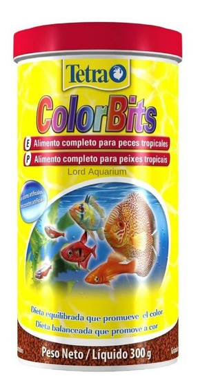 Ração Tetra Color Bits 300g Para Peixes Tropicais