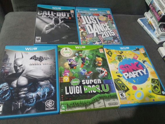 5 Jogos Nintendo Wii U Luigi, Batman, Cod, Just Dance