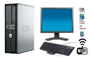 Pc Dell 380 Core 2 Duo E8300/ 4gb Ddr3 / Hd 500 Gb + Wi-fi