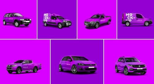 Mockups Automotivos (pack Com 7 Veículos)