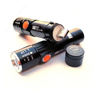 Lanterna Profissional Tatica Led T6 880000w Recarregavel Usb