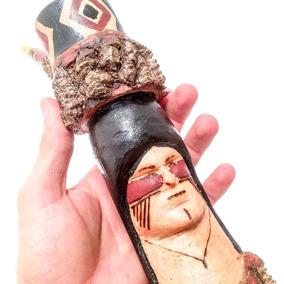 Cachimbo Índio Esculpido 23cm Indígena Ritual Xamânico