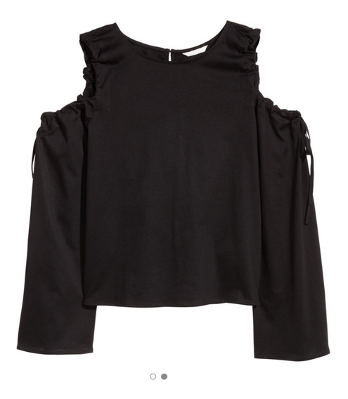 Remeras Open Shoulder H&m Open Shoulder Xs Y S Color Negro