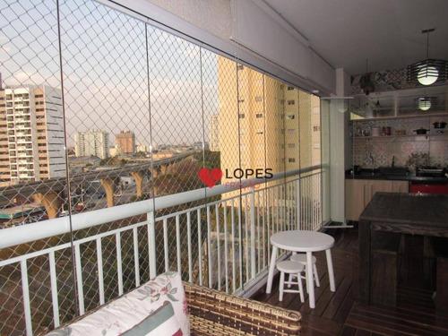 Imagem 1 de 30 de Apartamento Com Varanda Gourmet - Jd. Avelino - Ap3169
