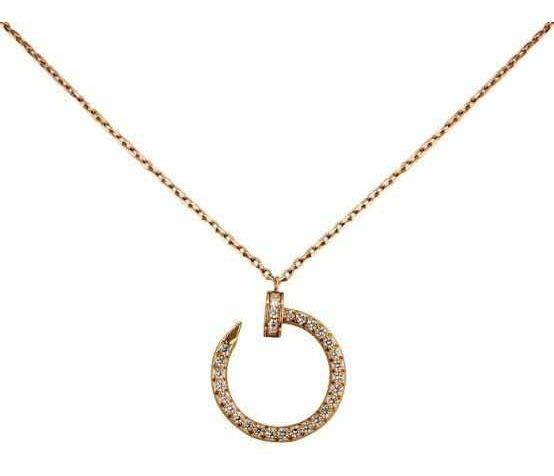 Collar De Plata S925 En Oro Rosa