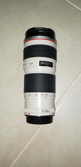 Lente Canon 70 - 200 L F4 + Filtro Uv Bw