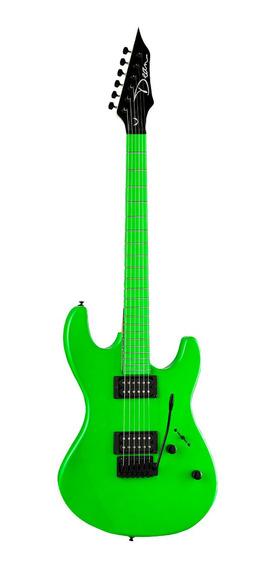 Guitarra Elec Dean Custom Zone Flp Verde Fluorescente Cuotas