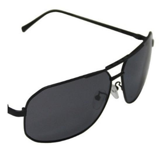 Óculos De Sol Masculino Preto Metal Polarizado 12x S/ Juros