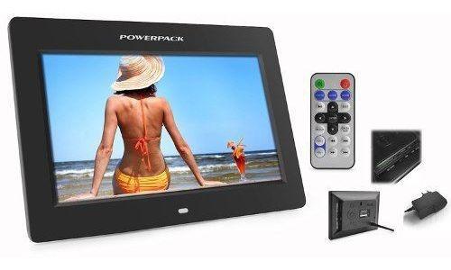 Porta Retrato Digital Tela 7 - Preto Powerpack Dpf-775
