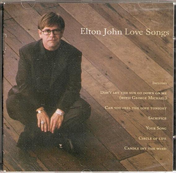 Cd Elton John - Love Songs - Novo***