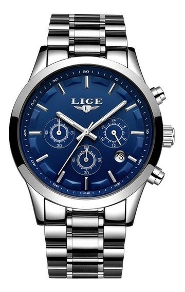 Relógio Lige Original Lg9875 Esportivo Barato Todo Funcional