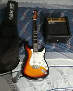 Guitarra Eléctrica Texas Con Amplificador ,funda Y Cable