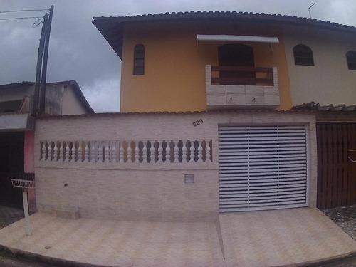 Sobrado Em Vera Cruz, Mongaguá/sp De 89m² 2 Quartos À Venda Por R$ 255.000,00 - So752731