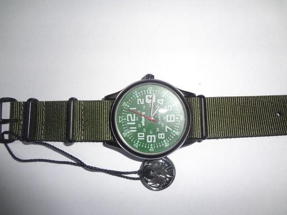 Relógio Infantry Quartz Royale Nylon Verde Importado - Caixa