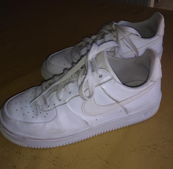 niebla tóxica Mercado Otros lugares  Zapatillas Nike Air Force Blancas Talla 37 Mujer | MercadoLibre.com.ar