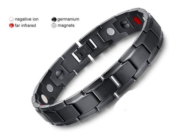Brazalete Magnético Acero-titanio Terapéutico Unisex + Caja