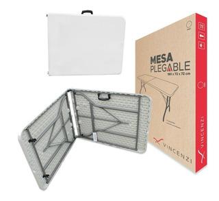 Mesa Plegable Portátil 1.82mt Carga 100kg Vincenzi R1001