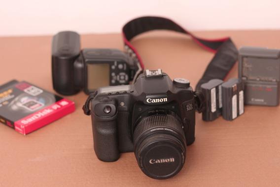 Canon 50d Com Lente 18-55mm + 2 Bateriass + Flash + Sd 32gb