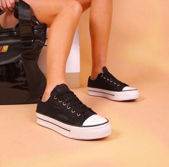 Zapatillas Mujer Con Glitters Ultima Moda - Sold Fábrica
