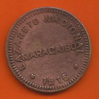 Ficha De Lazareto Nacional Maracaibo 1 Puya 1916