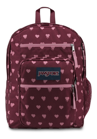 Mochila Jansport Big Student Bordo Con Corazones