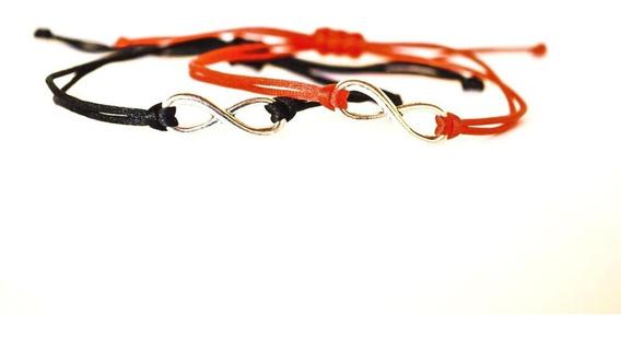 Pulsera Amor Infinito Set De 2 Pulseras: 1 Roja, 1 Negra