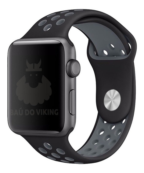 Pulseira Silicone Sport Nike Para Apple Watch 42mm 40mm 44mm