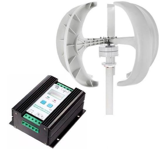 Kit Generador Eólico 12v 400w + Controlador De Carga Híbrido