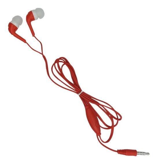 Fone De Ouvido Estéreo Auricular Com Microfone - Vermelho